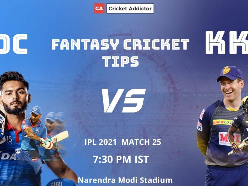 Delhi Capitals (DC) vs Kolkata Knight Riders (KKR) Dream11 Prediction.