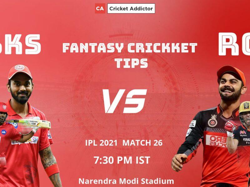 Punjab Kings (PBKS) vs Royal Challengers Bangalore (RCB) Dream11 Prediction.