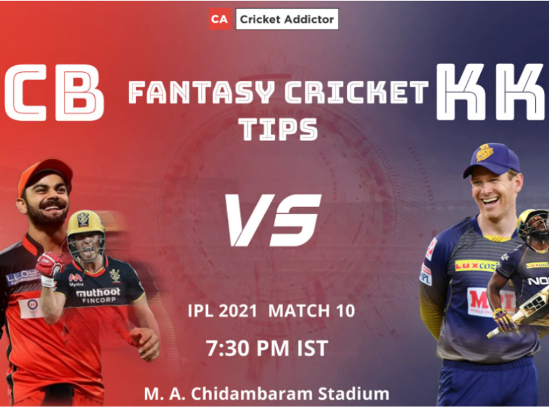 Royal Challengers Bangalore (RCB) vs Kolkata Knight Riders (KKR) Dream11 Prediction.