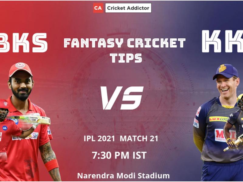 Punjab Kings (PBKS) vs Kolkata Knight Riders (KKR) Dream11 Prediction.