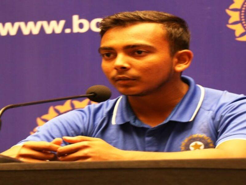 prithvi shaw-rahul Dravid