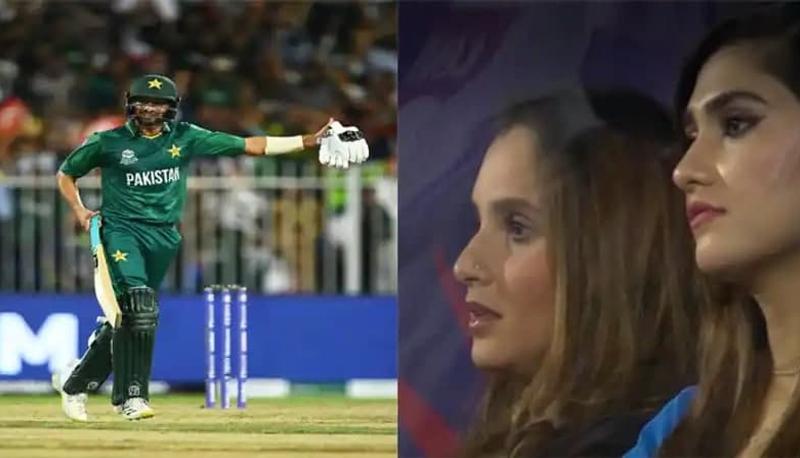 Sania Mirza Cheers shoaib malik-PAK vs NZ-Video-T20 WC 2021